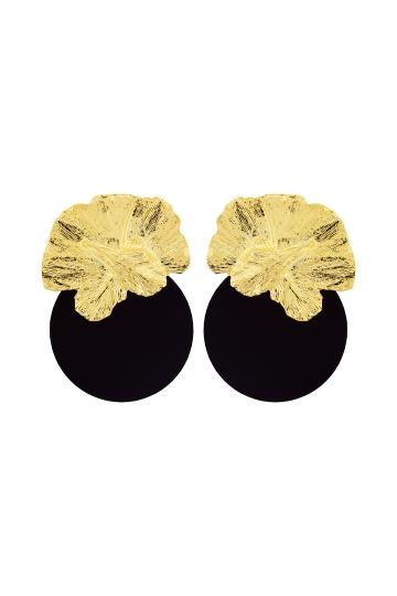 Pendientes Orquidea Black