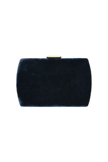 Clutch Terciopelo Navy