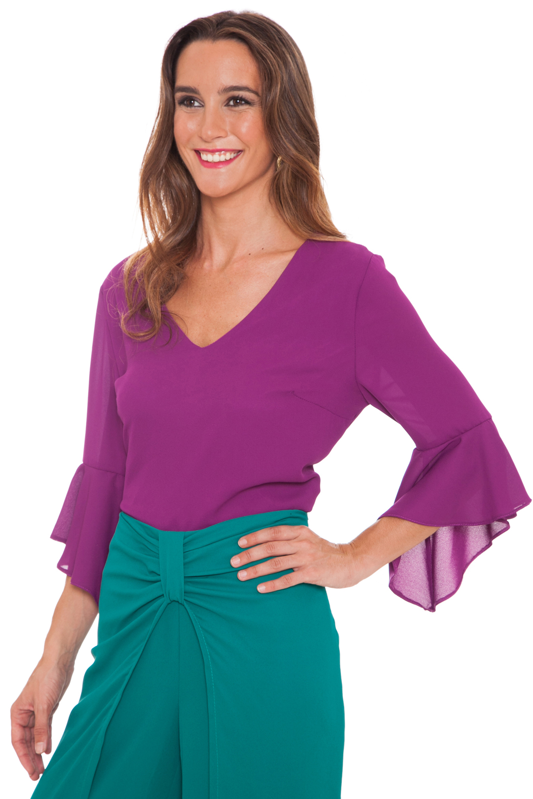 front - Camisa Purple Campana