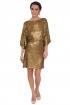 back - Vestido Gold Paillettes