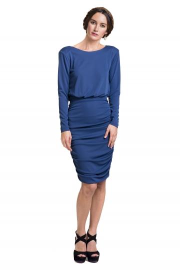 Vestido Azul Draped