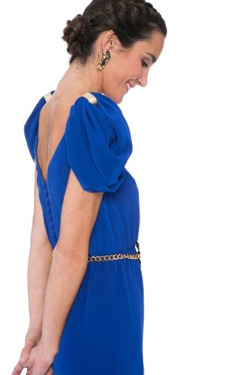 Vestido Blue Bow
