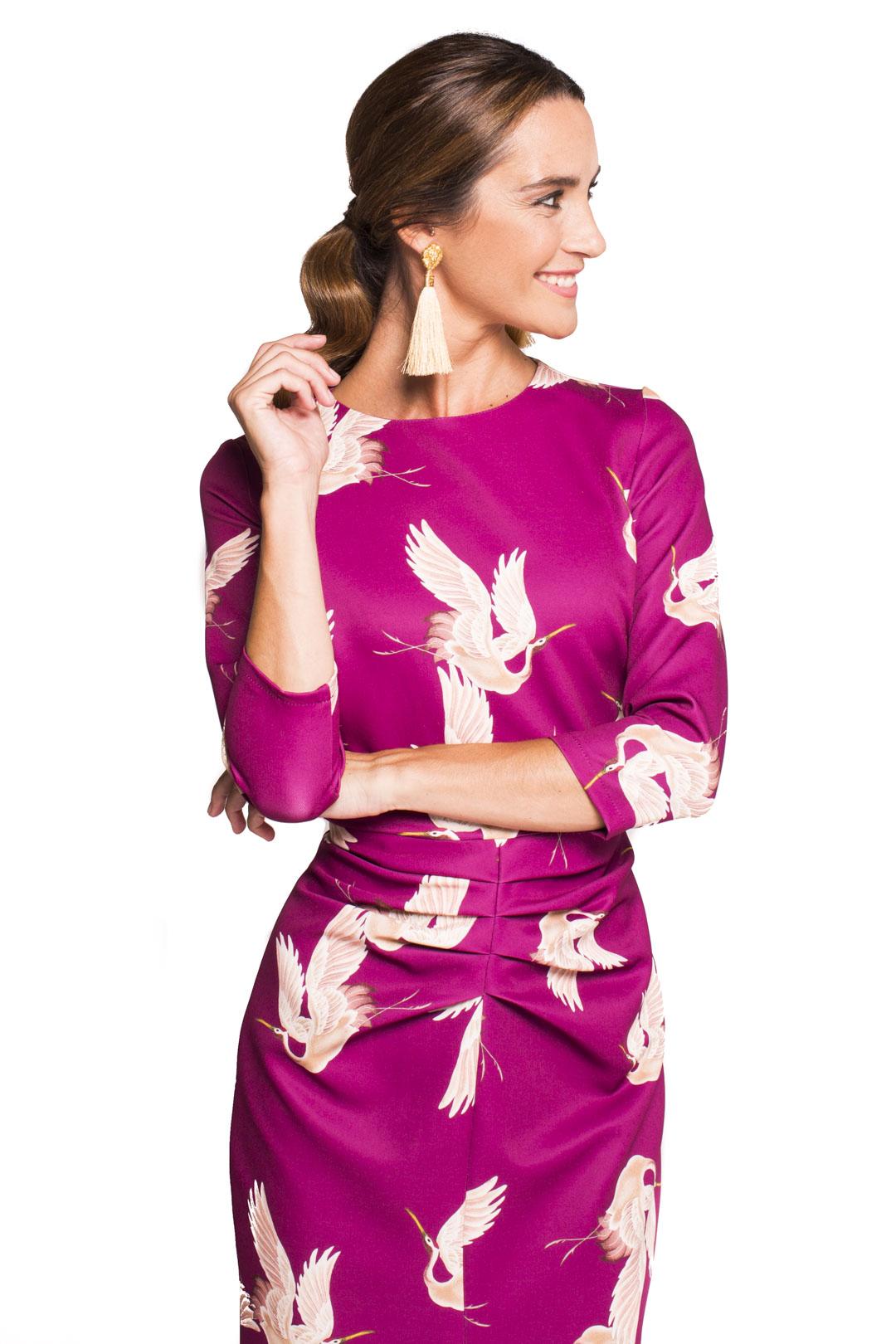 front - Vestido Cigüeñas Buganvilla