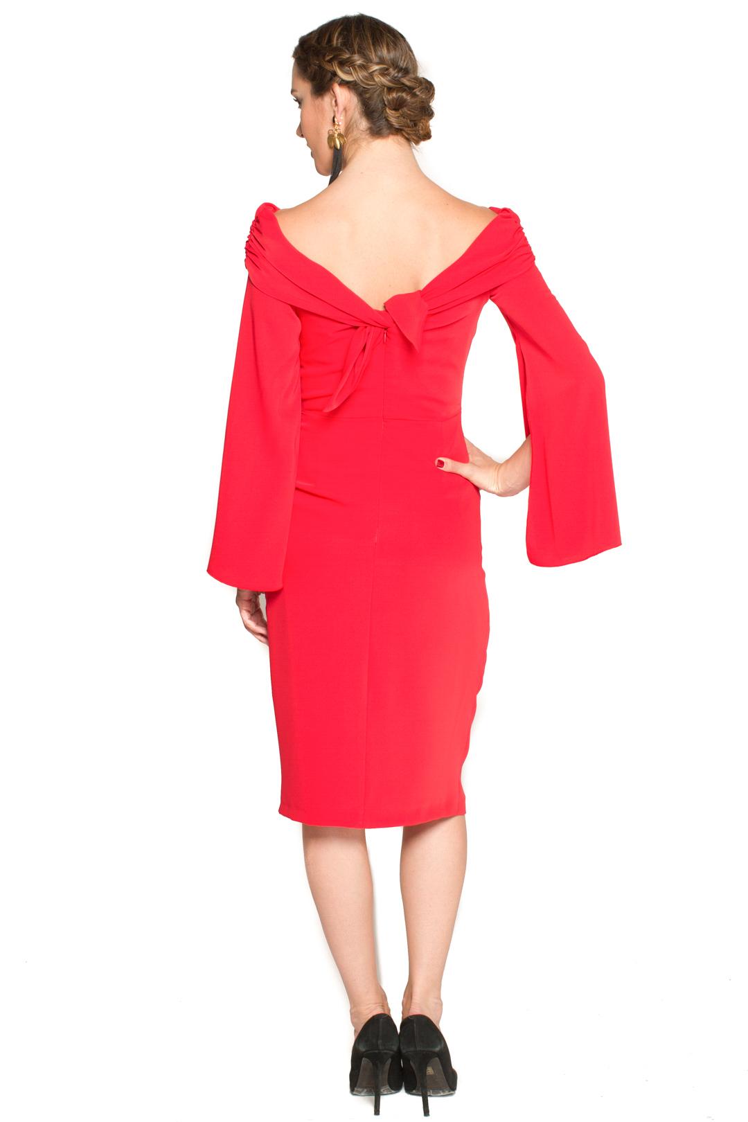 left - Vestido Meg Rojo