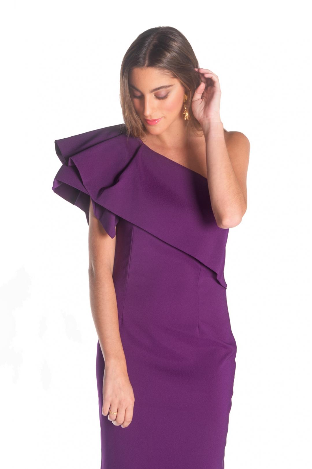 front - Vestido Troya Morado