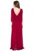 left - Vestido Burgundy Laces