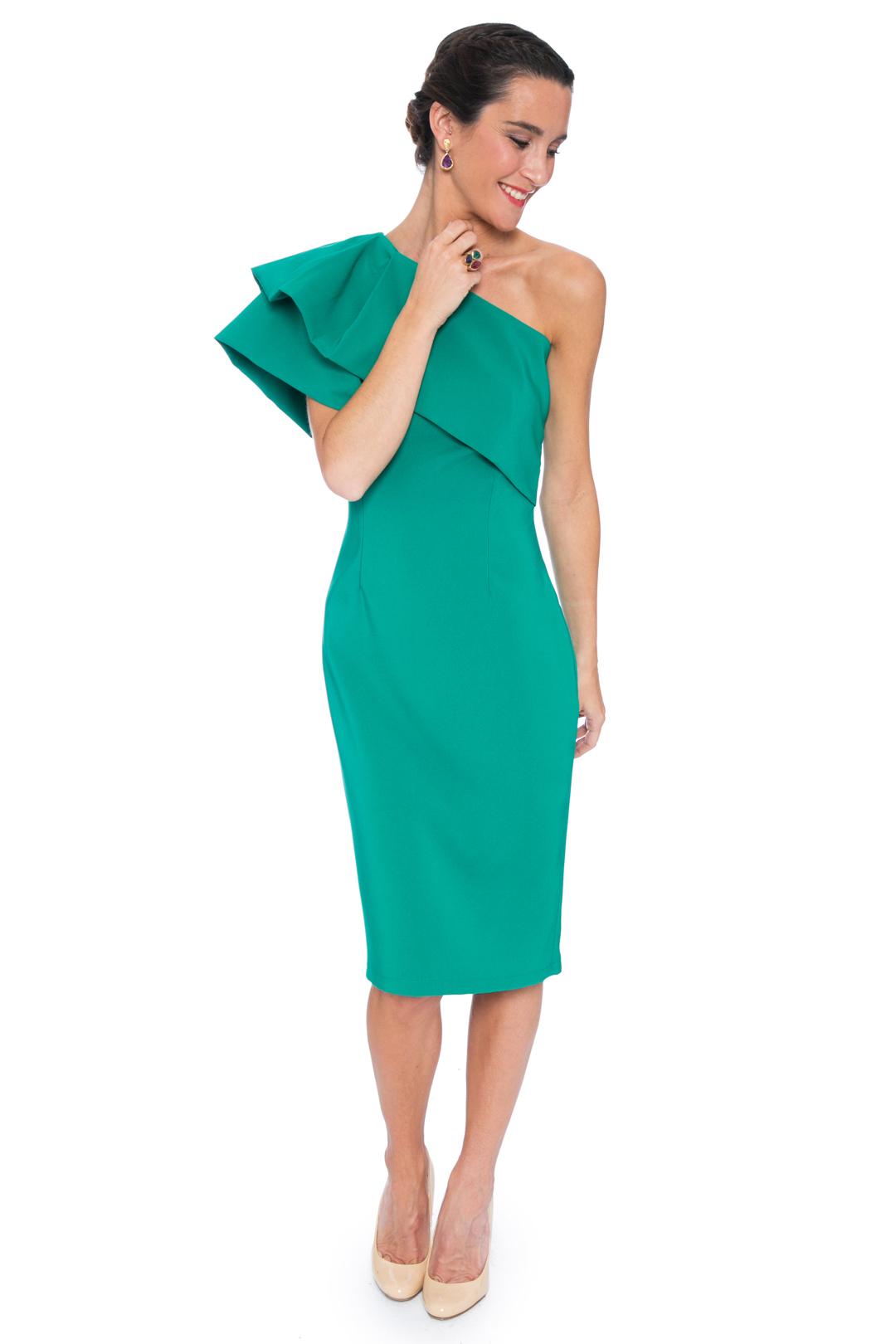 back - Vestido Triana Verde