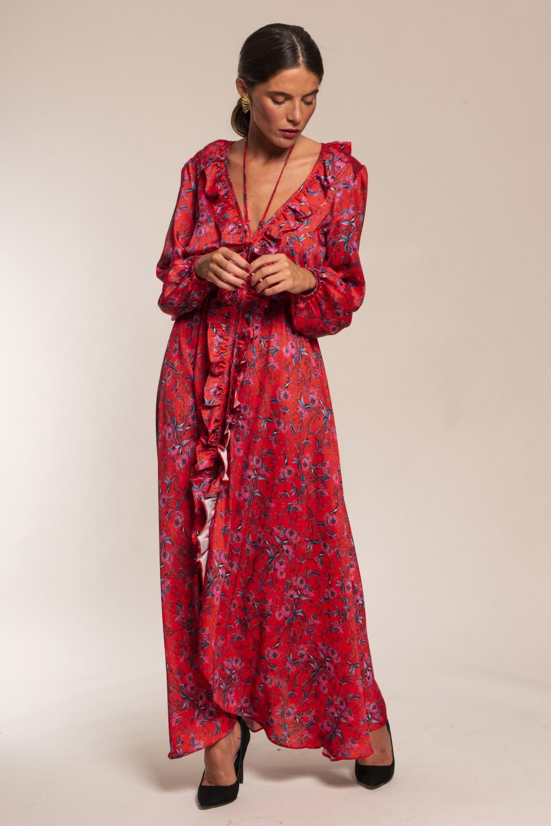 front - Vestido Zaina Rojo