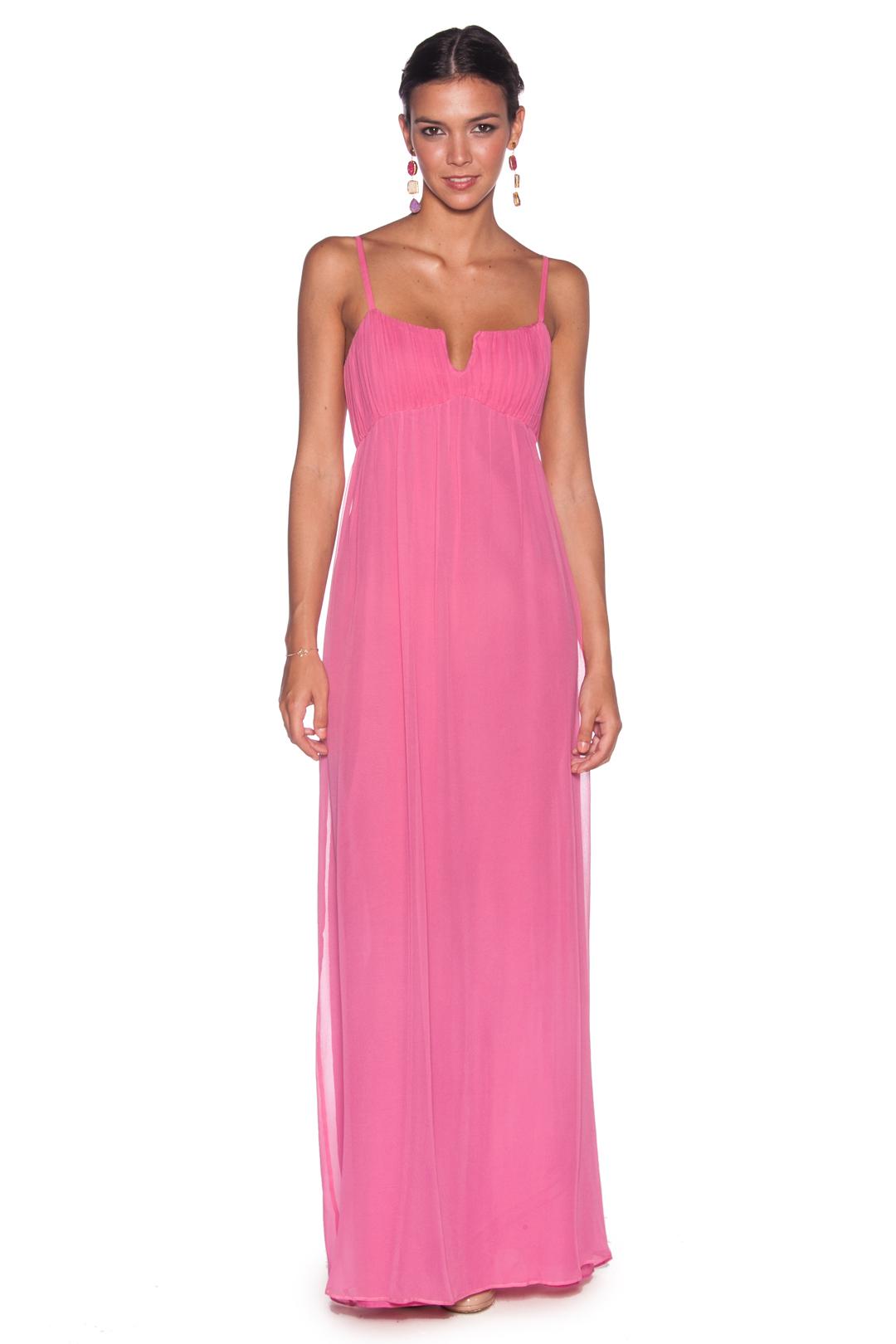 Vestido Rosa Chicle - Alquiler de Vestidos - La Más Mona