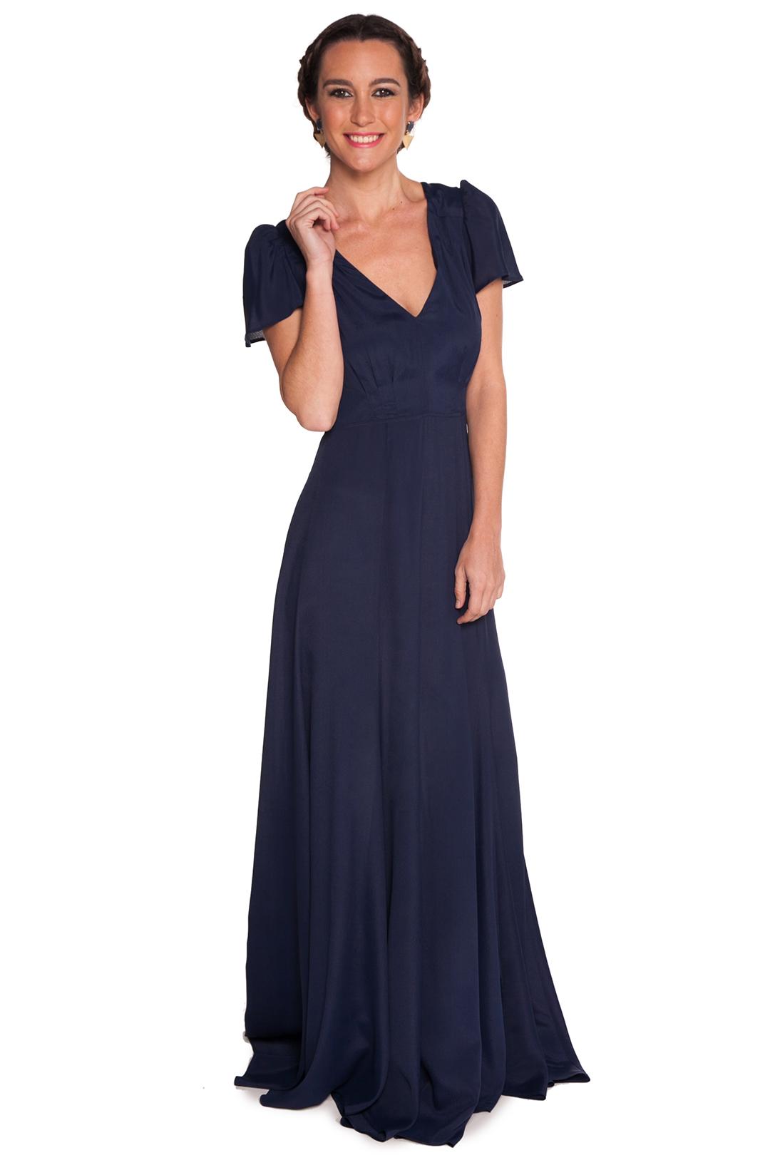 back - Vestido Reformation Blue Night