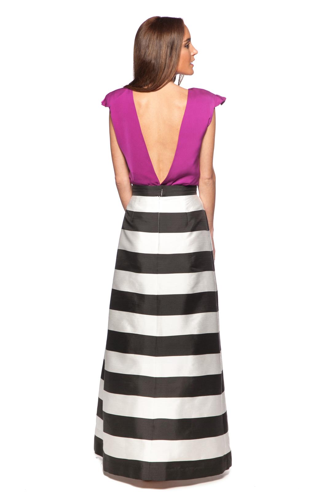 back - Falda Stripes Black and White