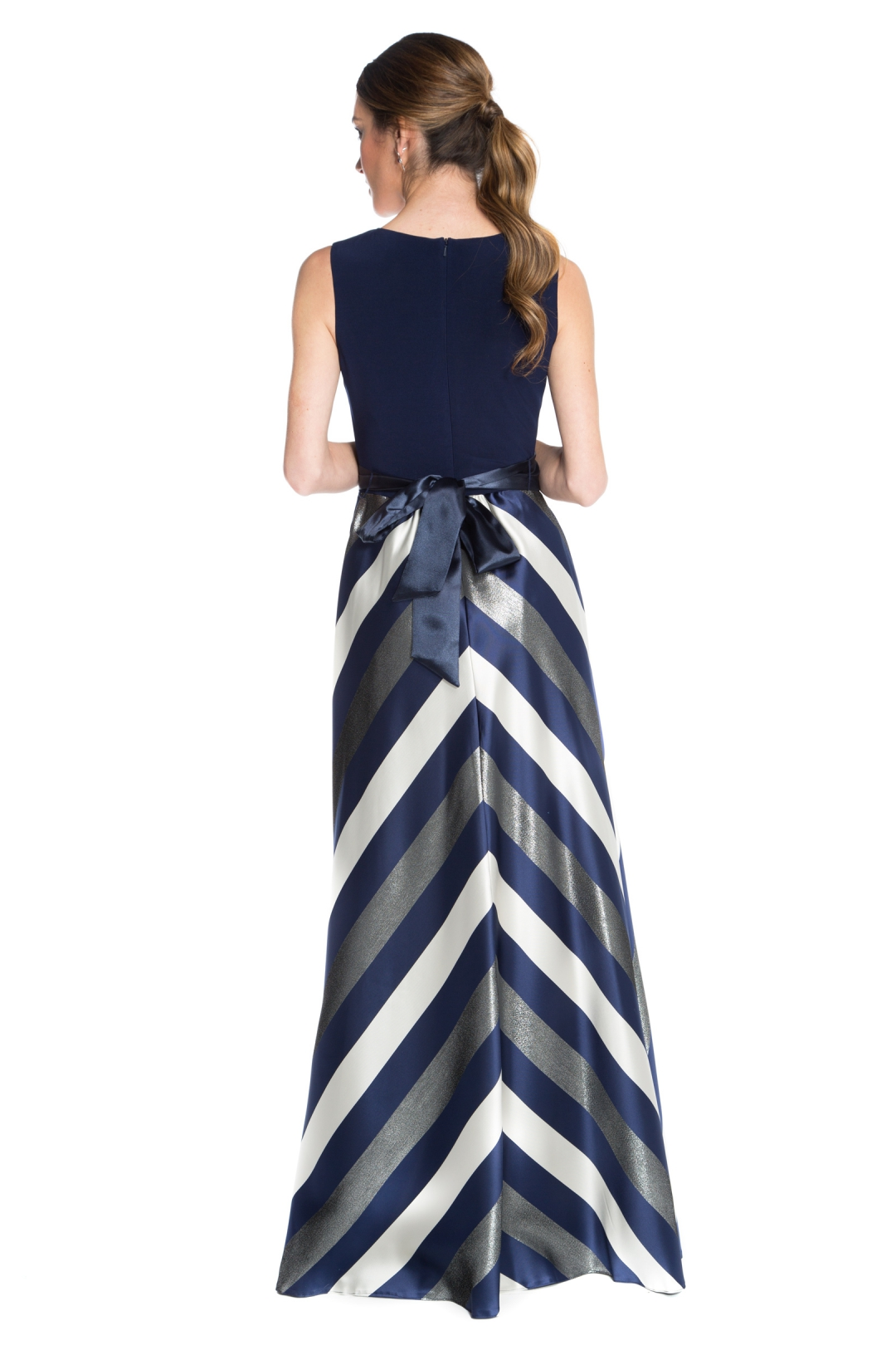 left - Vestido Navy Stripes