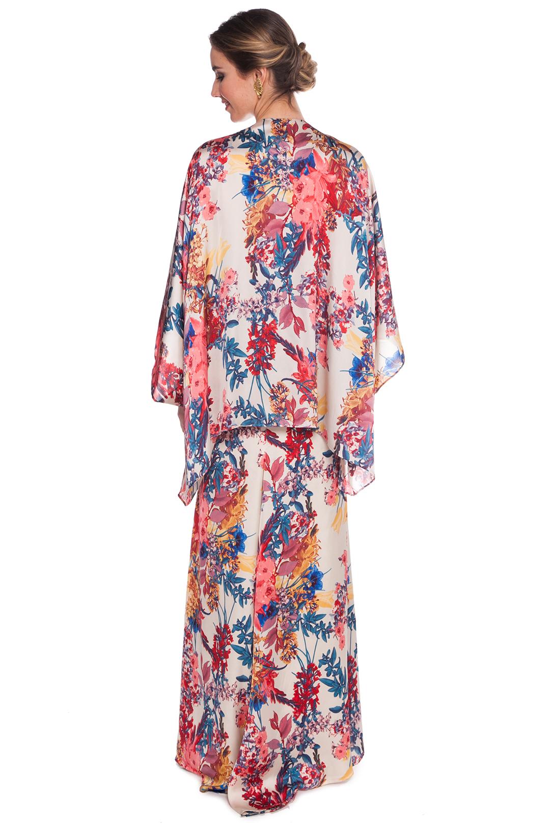 left - Vestido Kimono Print