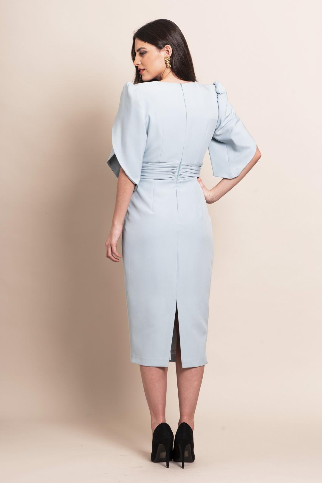 left - Vestido Midal Blue