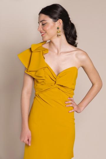 Vestido Vicky Mostaza