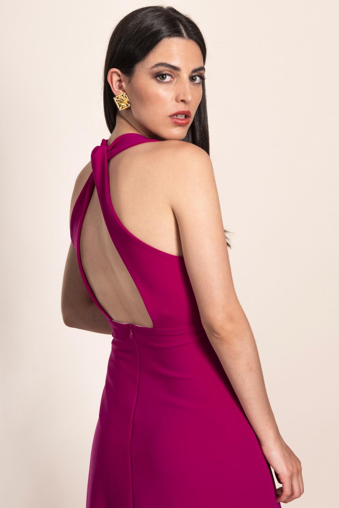 back - Vestido Amanda Buganvilla