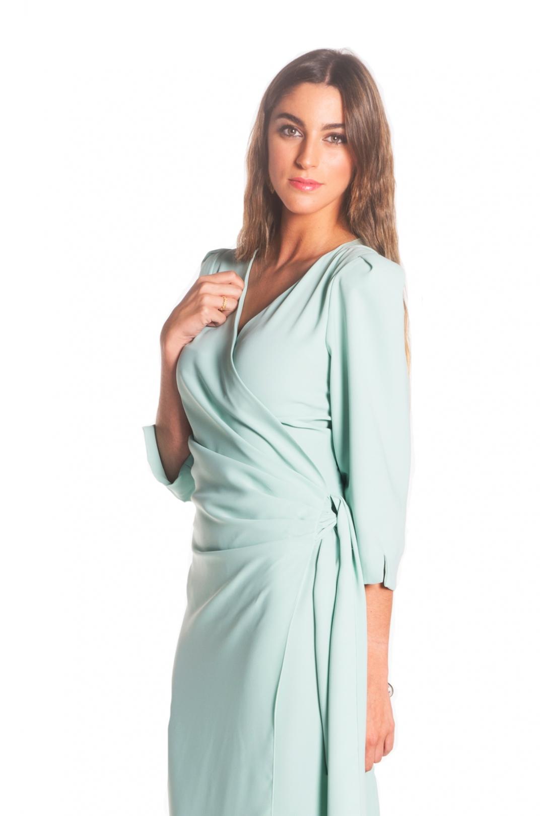 front - Vestido Monet Aqua