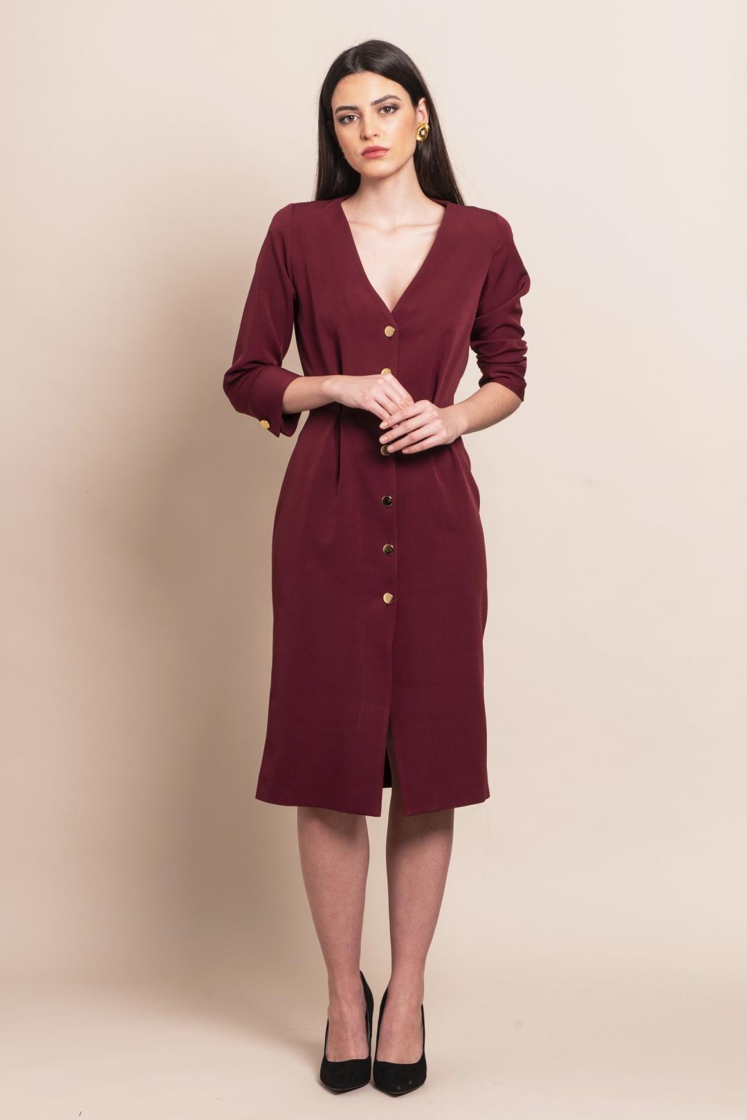 back - Vestido Escarlata Burgundy