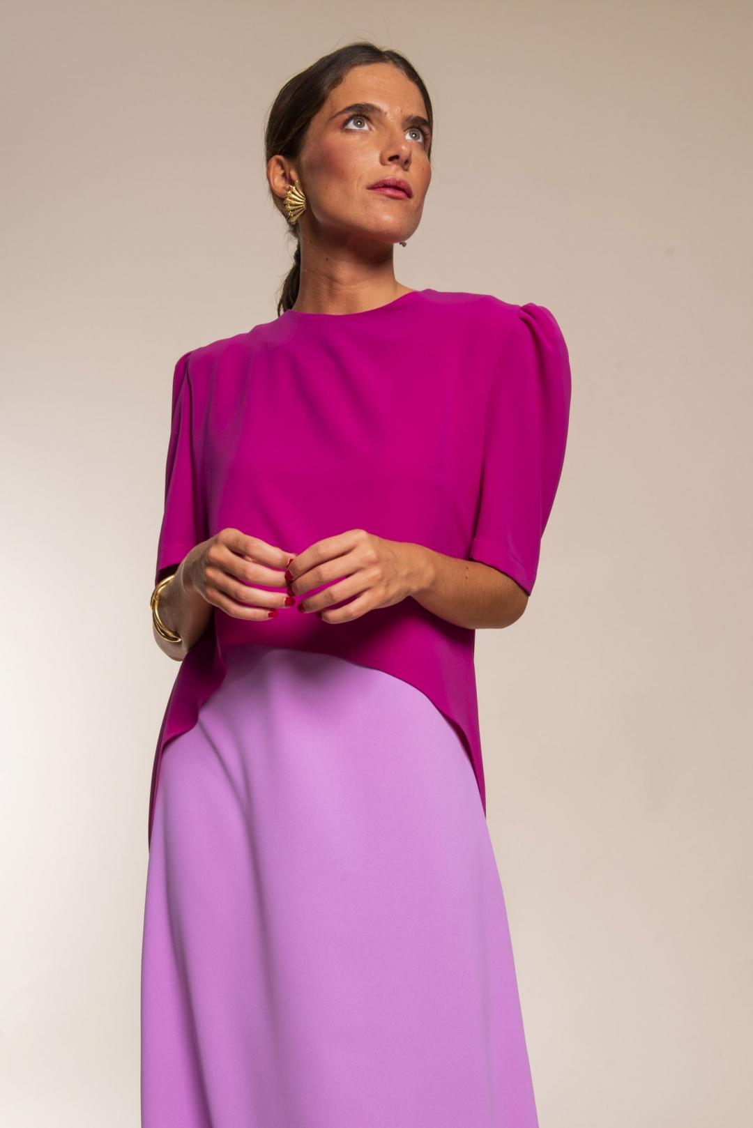 front - Vestido Maggie Frambuesa