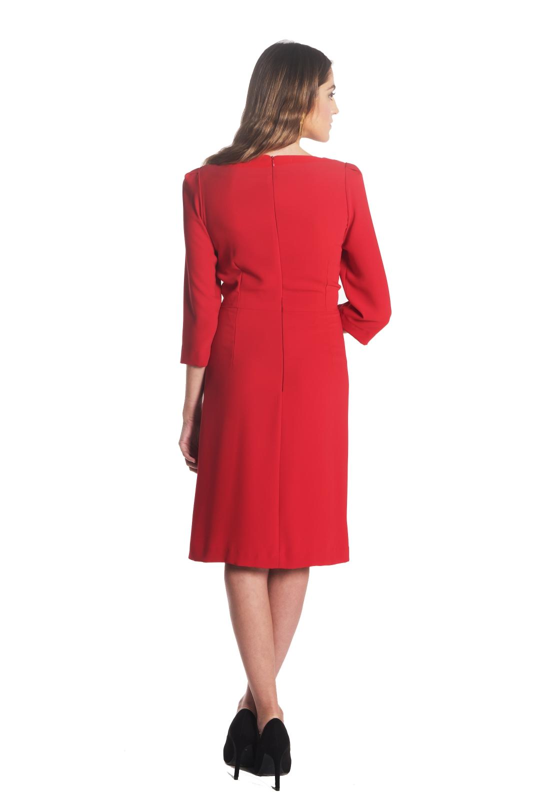 left - Vestido Moli Rojo