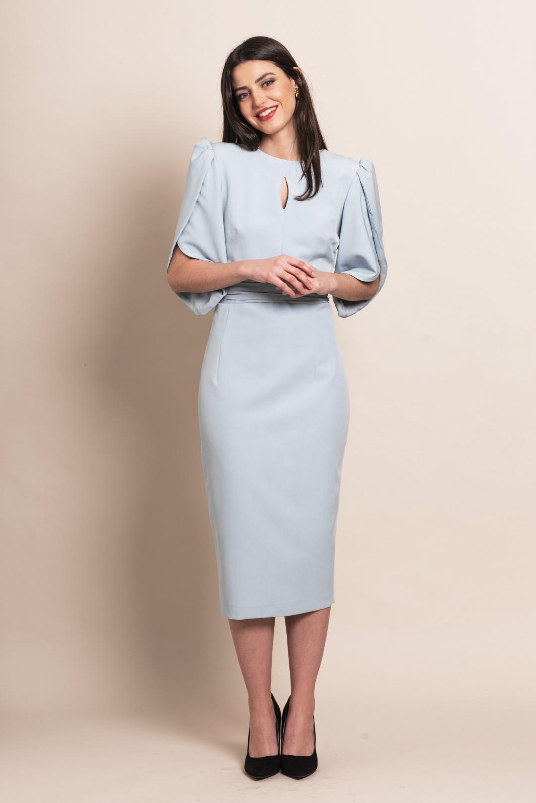 back - Vestido Midal Blue