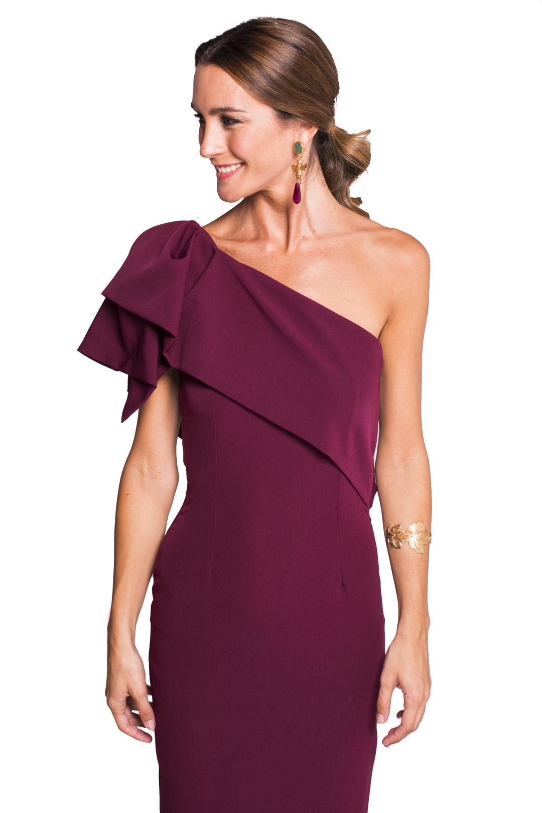 front - Vestido Triana Burgundy