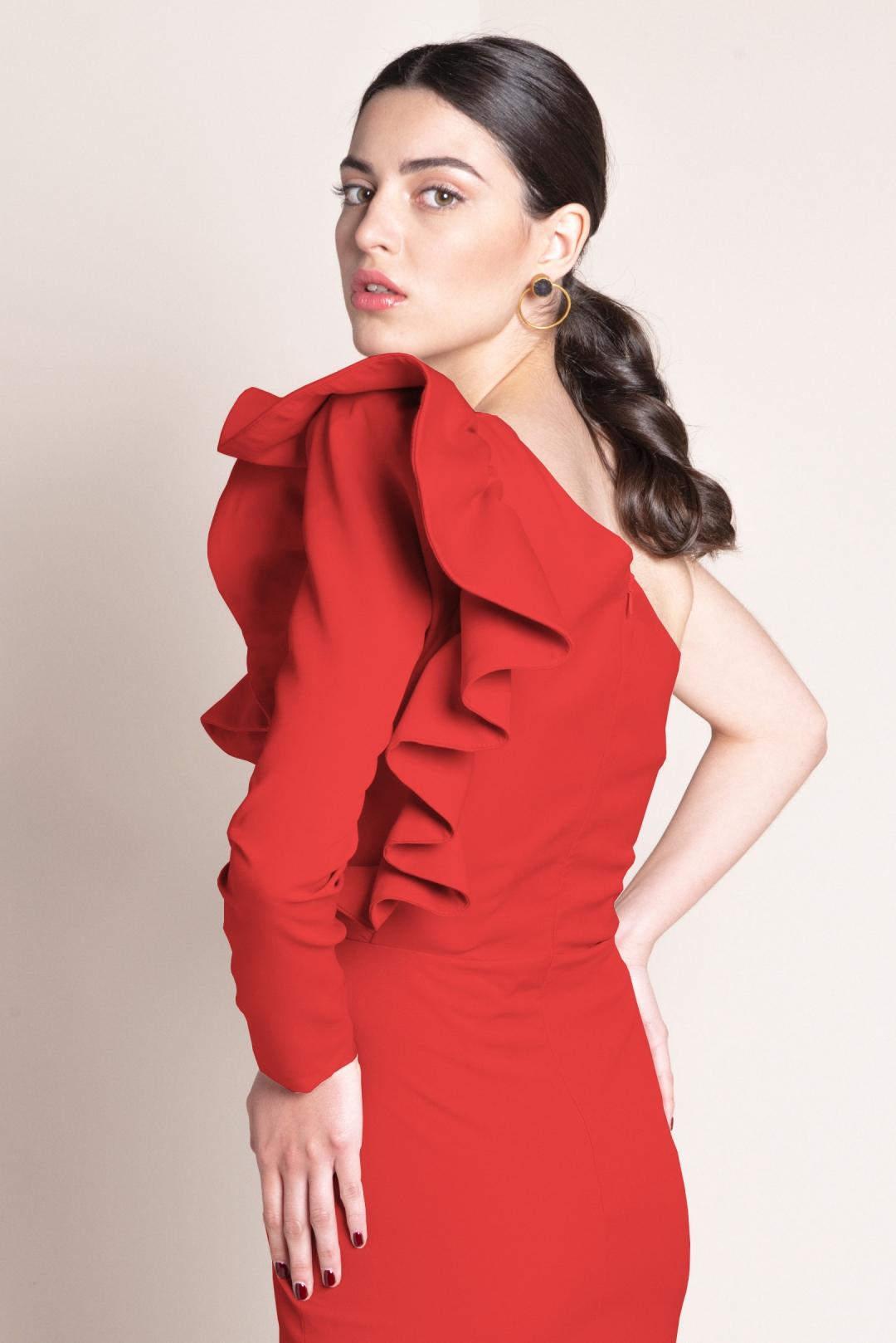 left - Vestido Layla Rojo