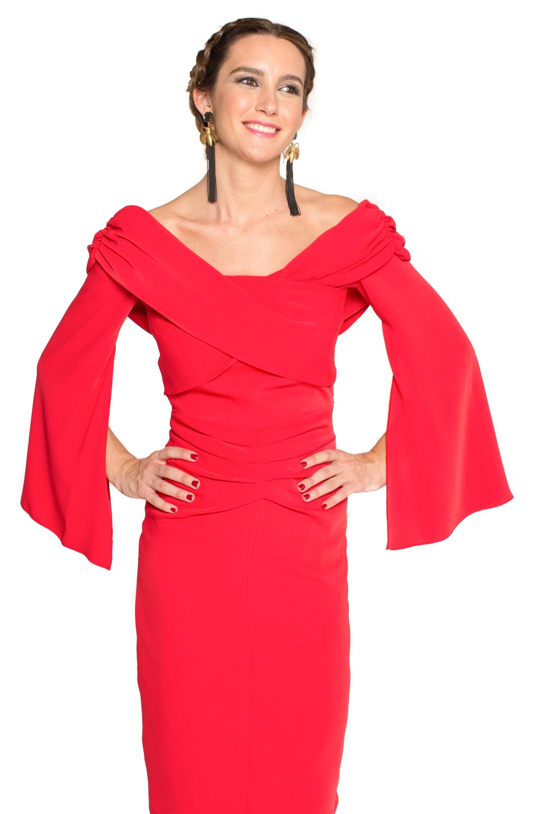 front - Vestido Meg Rojo