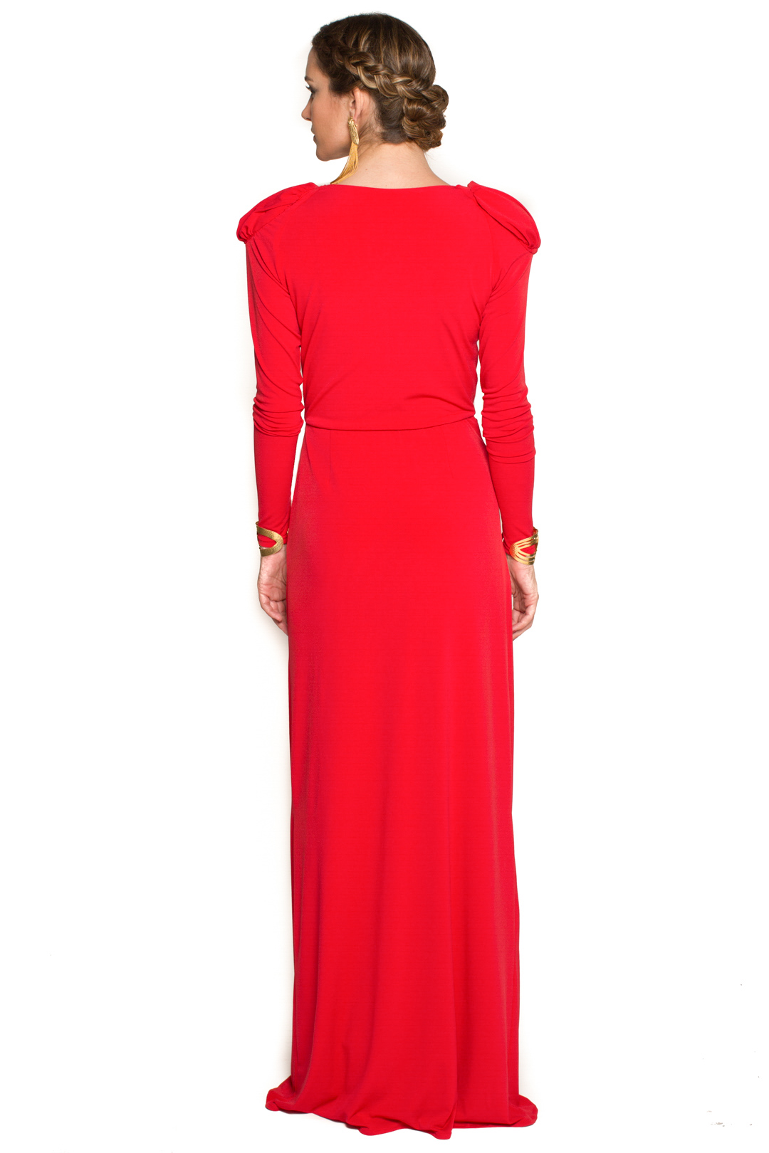 left - Vestido Cher Rojo