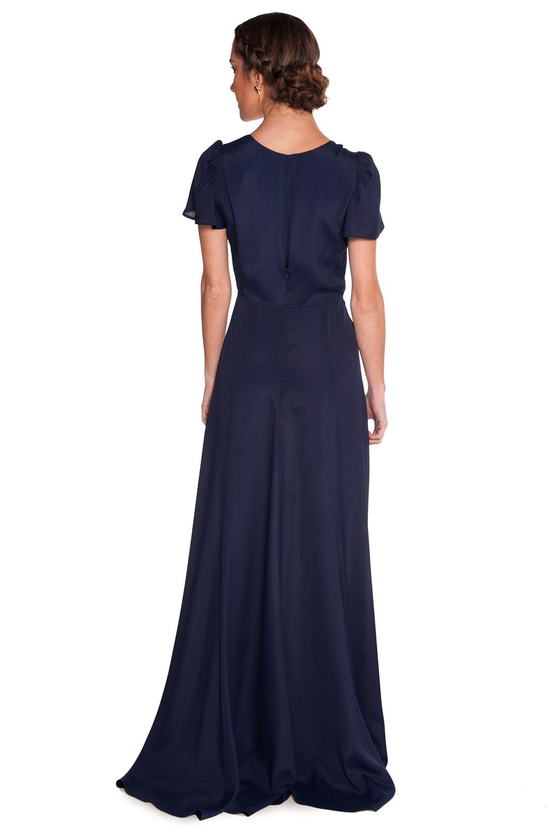 left - Vestido Reformation Blue Night