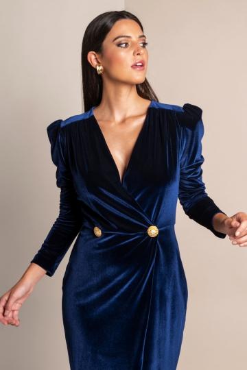 Vestido Madeleine Marino