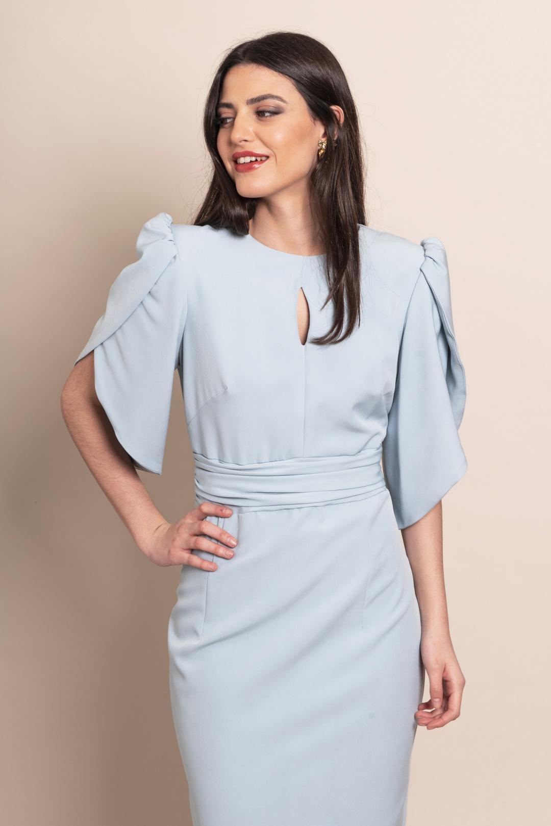front - Vestido Midal Blue
