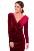 front - Vestido Grape Velvet