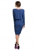 back - Vestido Azul Draped