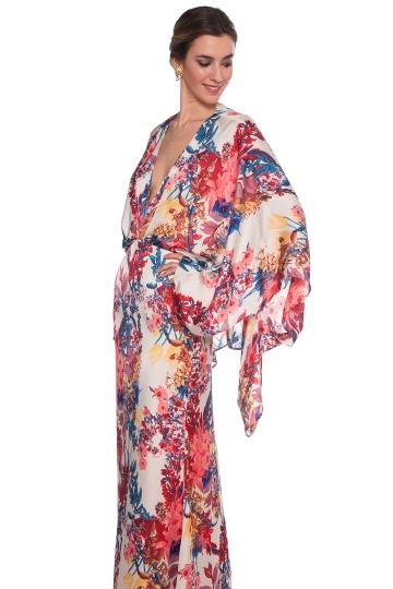 Vestido Kimono Print