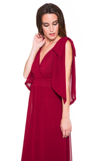 Vestido Burgundy Laces