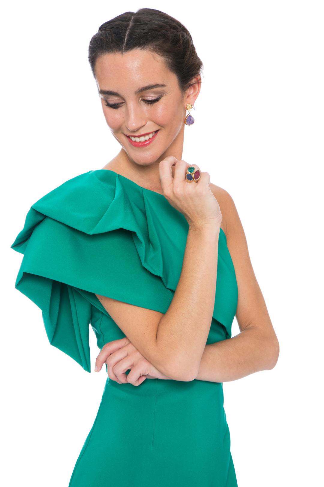 front - Vestido Triana Verde