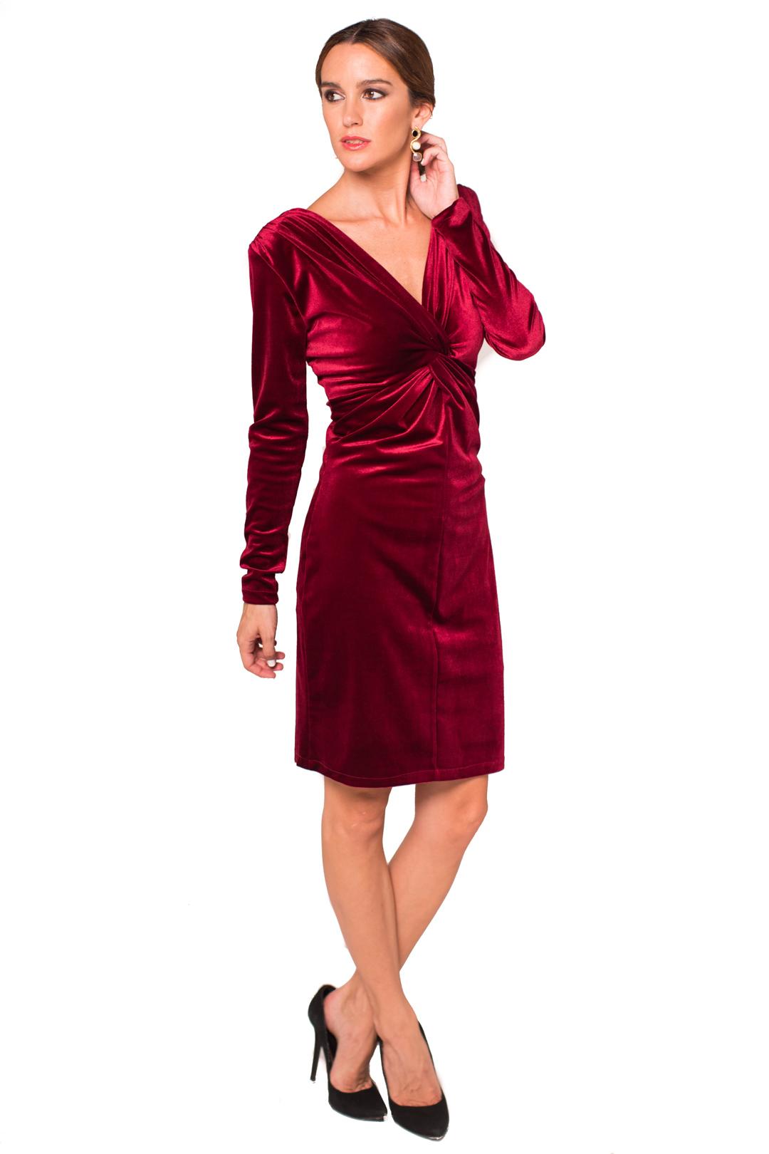back - Vestido Grape Velvet