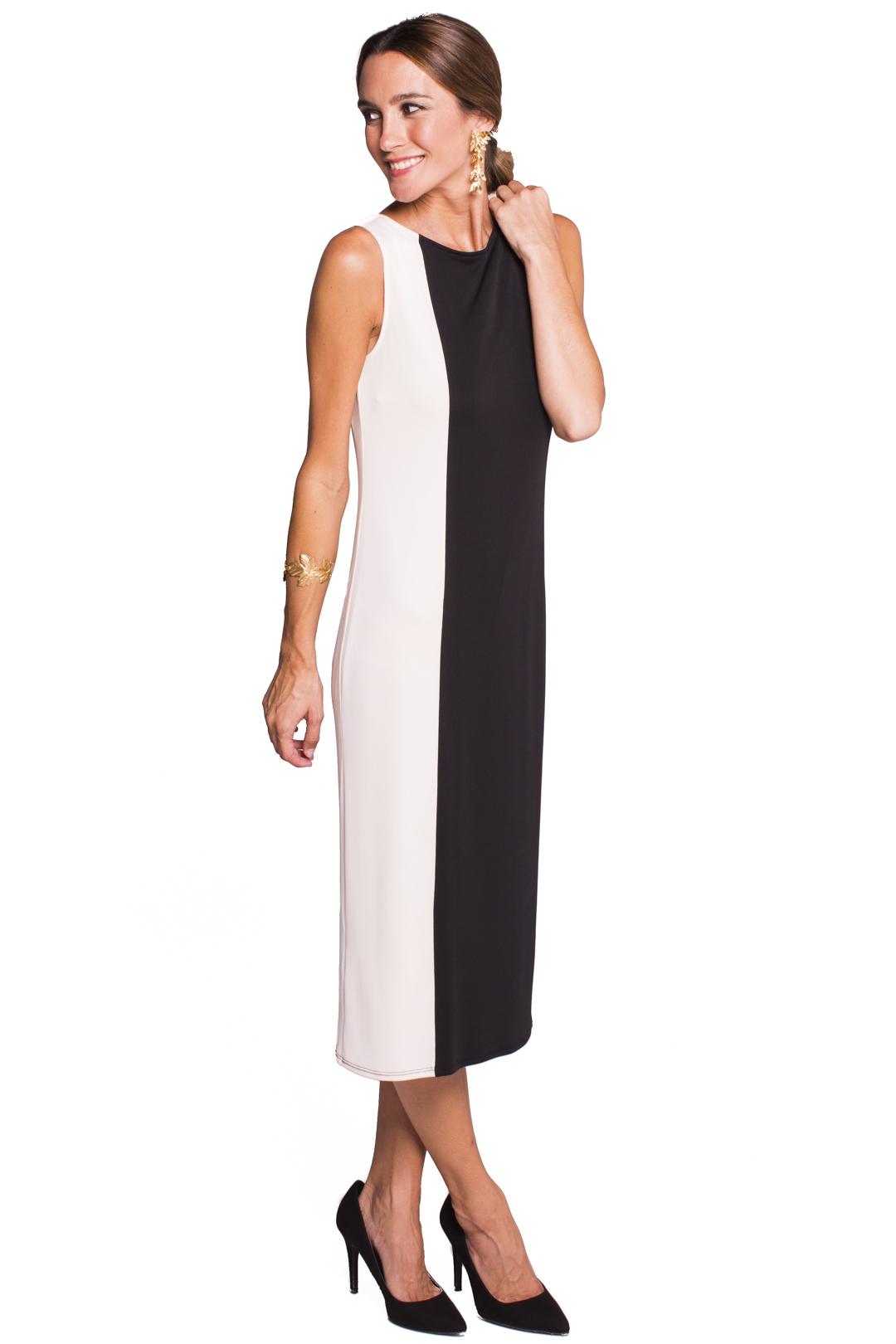 front - Vestido Melrose Black