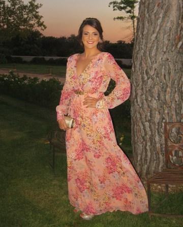 Vestido Jardin Coral Alquiler De Vestidos La Más Mona